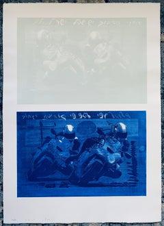 Israeli Abstract Modernist Aquatint Screenprint Color Photo-Etching