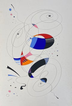 Italian Artist Abstract Lithograph