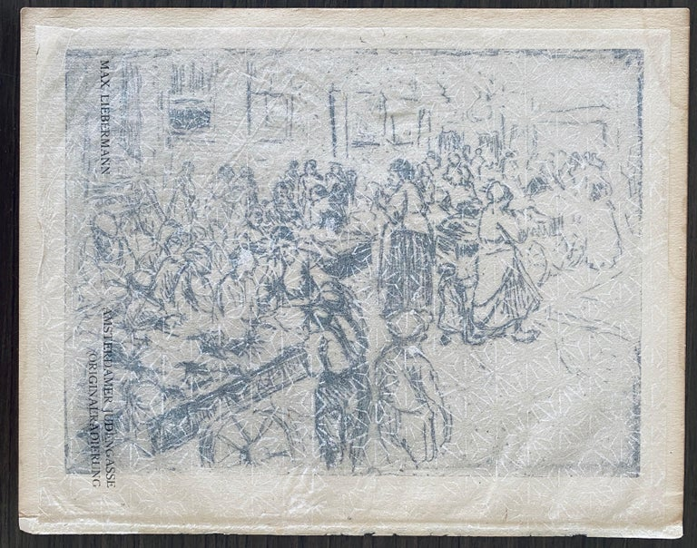 German Impressionist Marketplace Etching  For Sale 8