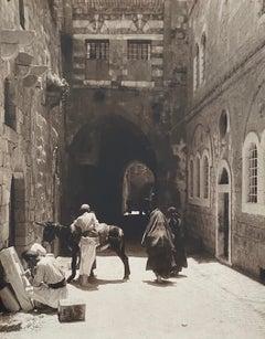"Vintage Large Albumen Photo Jerusalem - House Of The ""Rich Man"""