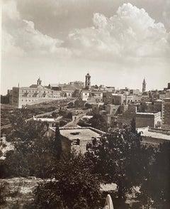 Vintage Large Albumen Photo Jerusalem Landscape