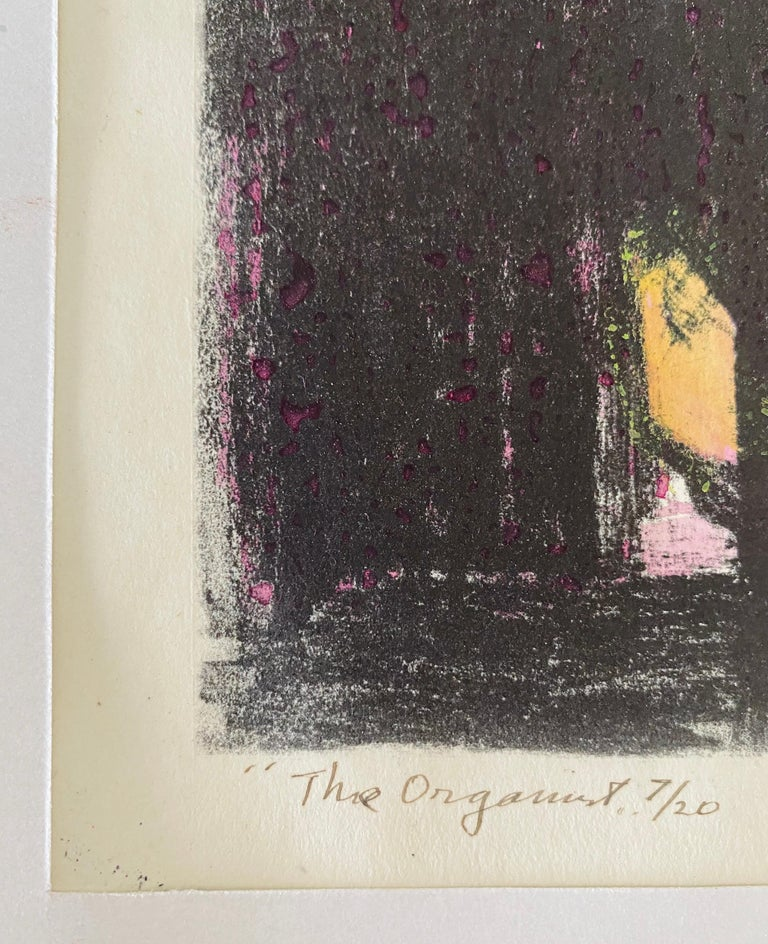 Expressionist Hand Signed Lithograph - Benjamin Kopman  For Sale 4