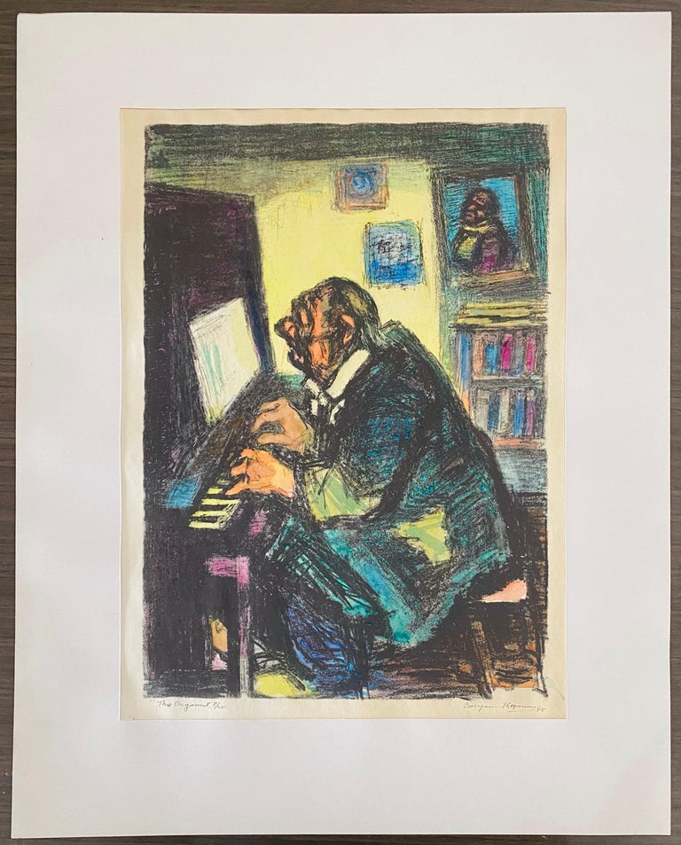 Expressionist Hand Signed Lithograph - Benjamin Kopman  For Sale 7