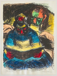 Expressionist Hand Signed Lithograph - Benjamin Kopman
