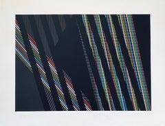 Italian Kinetic Op Art Attilio Taverna Silkscreen Lithograph Print Light Artist