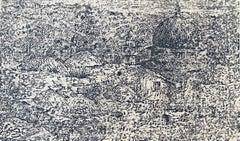 Old City Jerusalem Ink Drawing