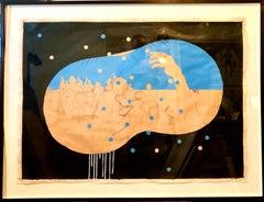 Scoli Acosta Large Contemporary Mixed Media Painting LA Artist Dakota Nightshade