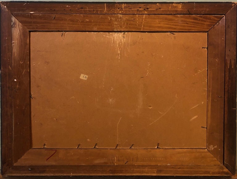 New York School Abstract Expressionist Oil Painting Italian American G. Napoli For Sale 6