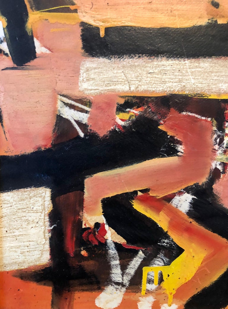 New York School Abstract Expressionist Oil Painting Italian American G. Napoli For Sale 3