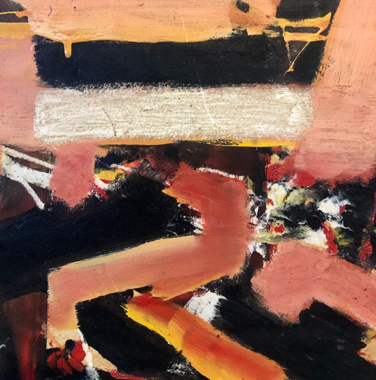 New York School Abstract Expressionist Oil Painting Italian American G. Napoli For Sale 4
