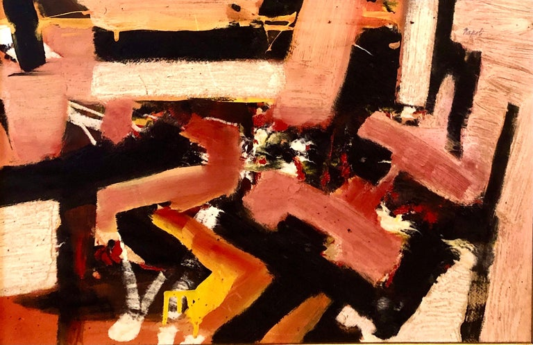 Giuseppe Napoli Abstract Painting - New York School Abstract Expressionist Oil Painting Italian American G. Napoli