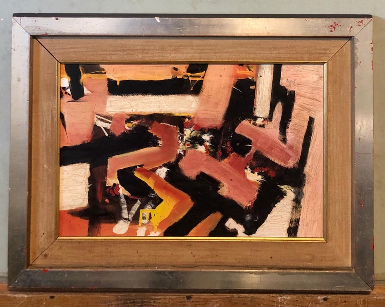 New York School Abstract Expressionist Oil Painting Italian American G. Napoli For Sale 5