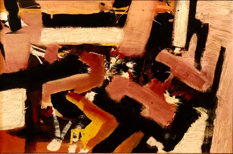 New York School Abstract Expressionist Oil Painting Italian American G. Napoli For Sale 1