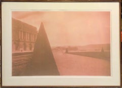 Large Vintage Photograph Polaroid Transfer Photo Print Gardens Versailles Paris