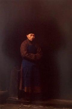 Vintage Photograph Cibachrome Tibetan Monk Chengdu China Portrait Photo Print