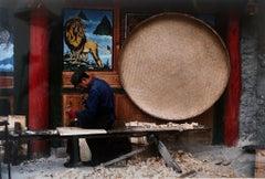 Vintage Photograph Cibachrome Jiuzhaigou Sichuan China Color Photo Print Lion