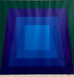 1970's Op Art Cintique Geometric Abstract Color Gradations Silkscreen Domberger