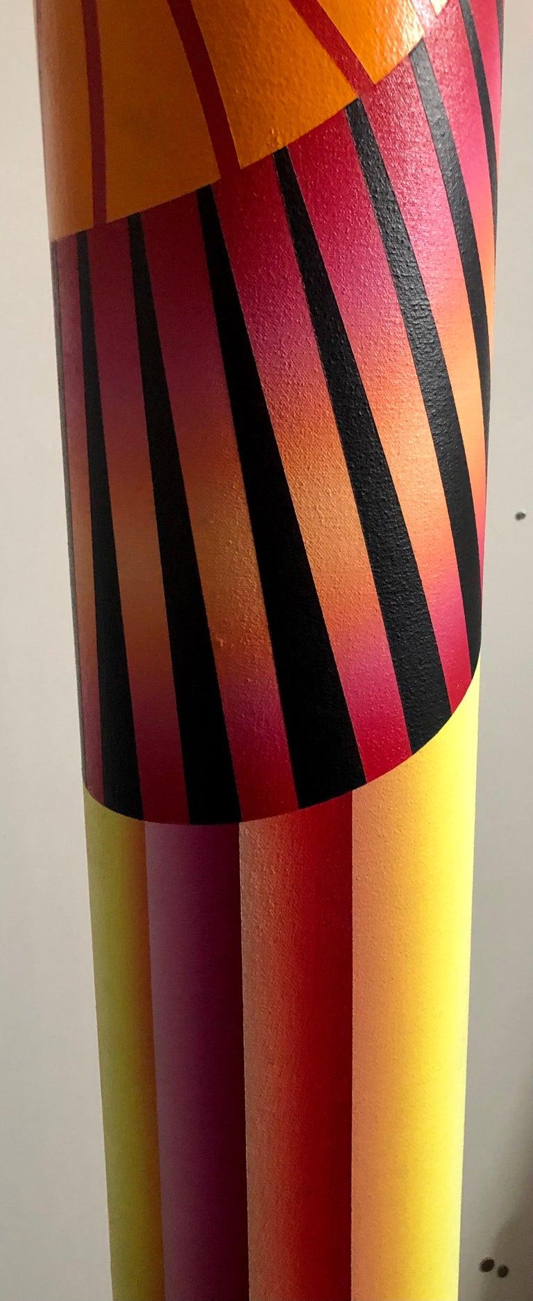 Abstract Geometric Shaped Canvas Painting Sculpture Memphis Milano Era 1980s Art 1