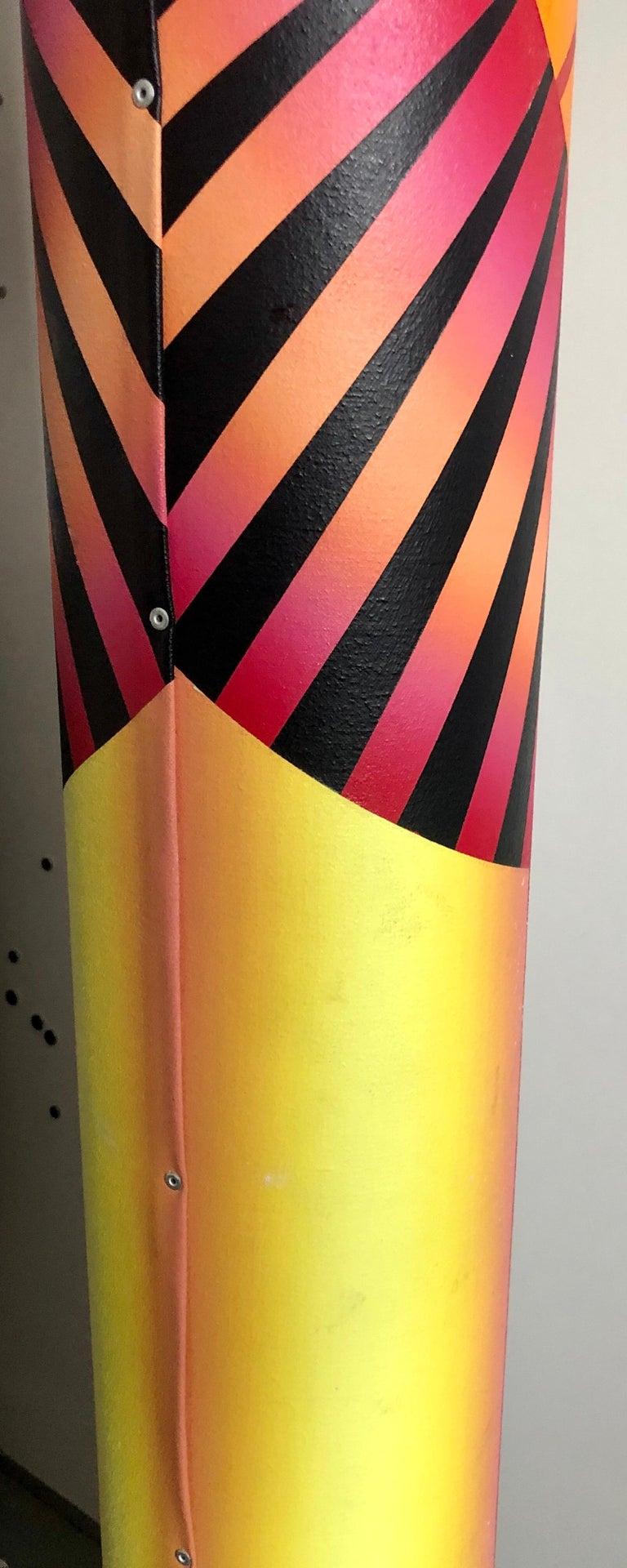 Abstract Geometric Shaped Canvas Painting Sculpture Memphis Milano Era 1980s Art 5