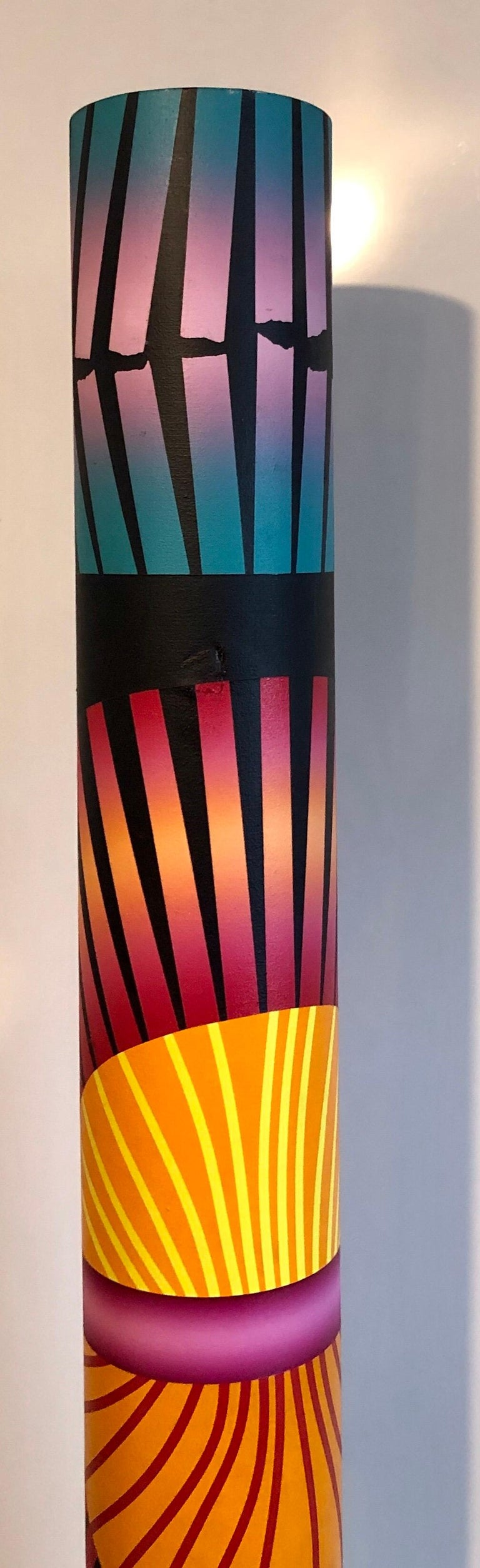 George Snyder Abstract Painting - Abstract Geometric Shaped Canvas Painting Sculpture Memphis Milano Era 1980s Art