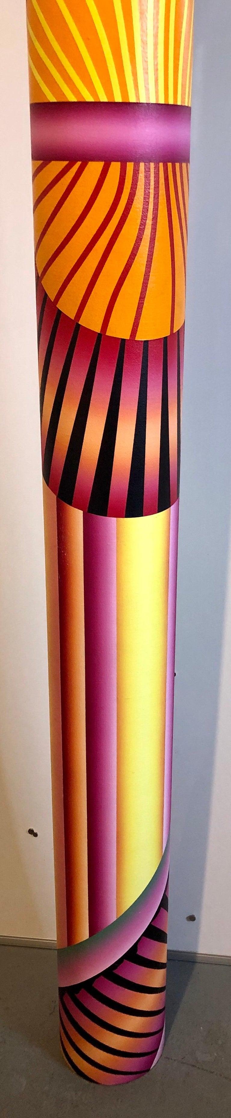 Abstract Geometric Shaped Canvas Painting Sculpture Memphis Milano Era 1980s Art 2