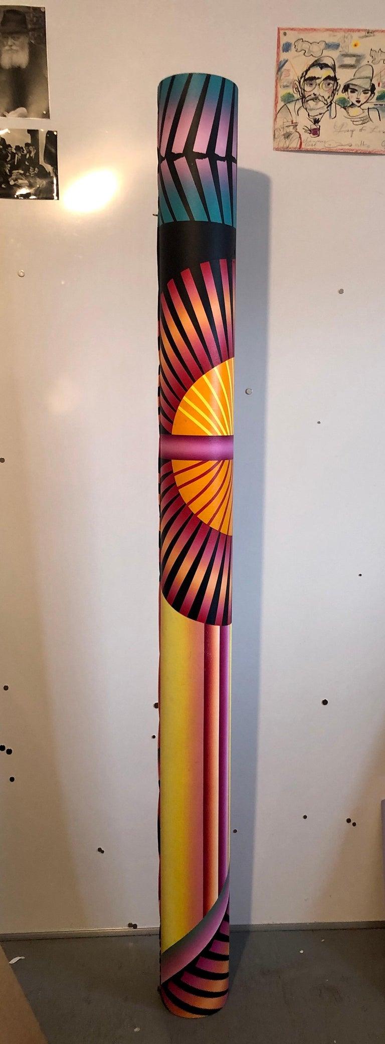Abstract Geometric Shaped Canvas Painting Sculpture Memphis Milano Era 1980s Art 12
