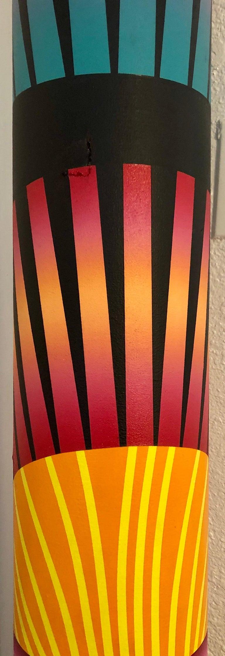 Abstract Geometric Shaped Canvas Painting Sculpture Memphis Milano Era 1980s Art 14