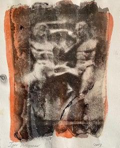 Post Soviet Russian Avant Garde Photograph Mixed Media Gum Arabic Photo Painting