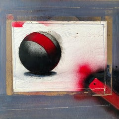 Mixed Media Collage Oil Painting Futuristic Abstract Sci Fi Art