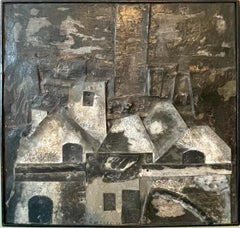 French Outsider Art Brut Mixed Media Zinc Assemblage Sculpture Collage Painting