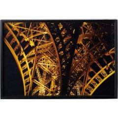 Vintage C Print Gold Color Photograph Eiffel Tower Paris France Cibachrome Photo