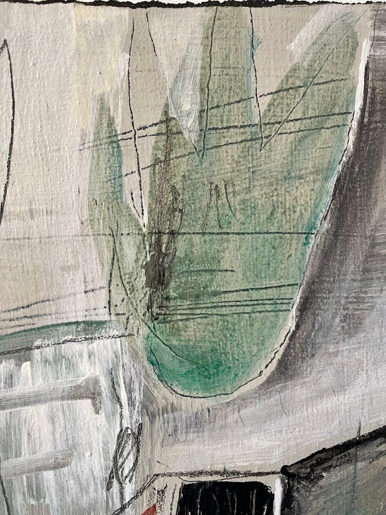 Japanese Hawaiian Zen Master Abstract Expressionist Oil Painting Mono-Ha Artist For Sale 3