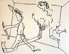 New York School Abstract Expressionist Drawing Watercolor Painting Carmen Cicero