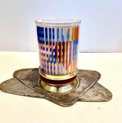 Agam Silkscreen Judaica Kiddush Cup Signed Israeli Kinetic Op Art Sculpture