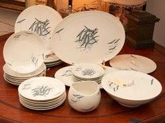 Raymond Loewy Rosenthal Art China Porcelain Set Germany Conference Pattern Birds