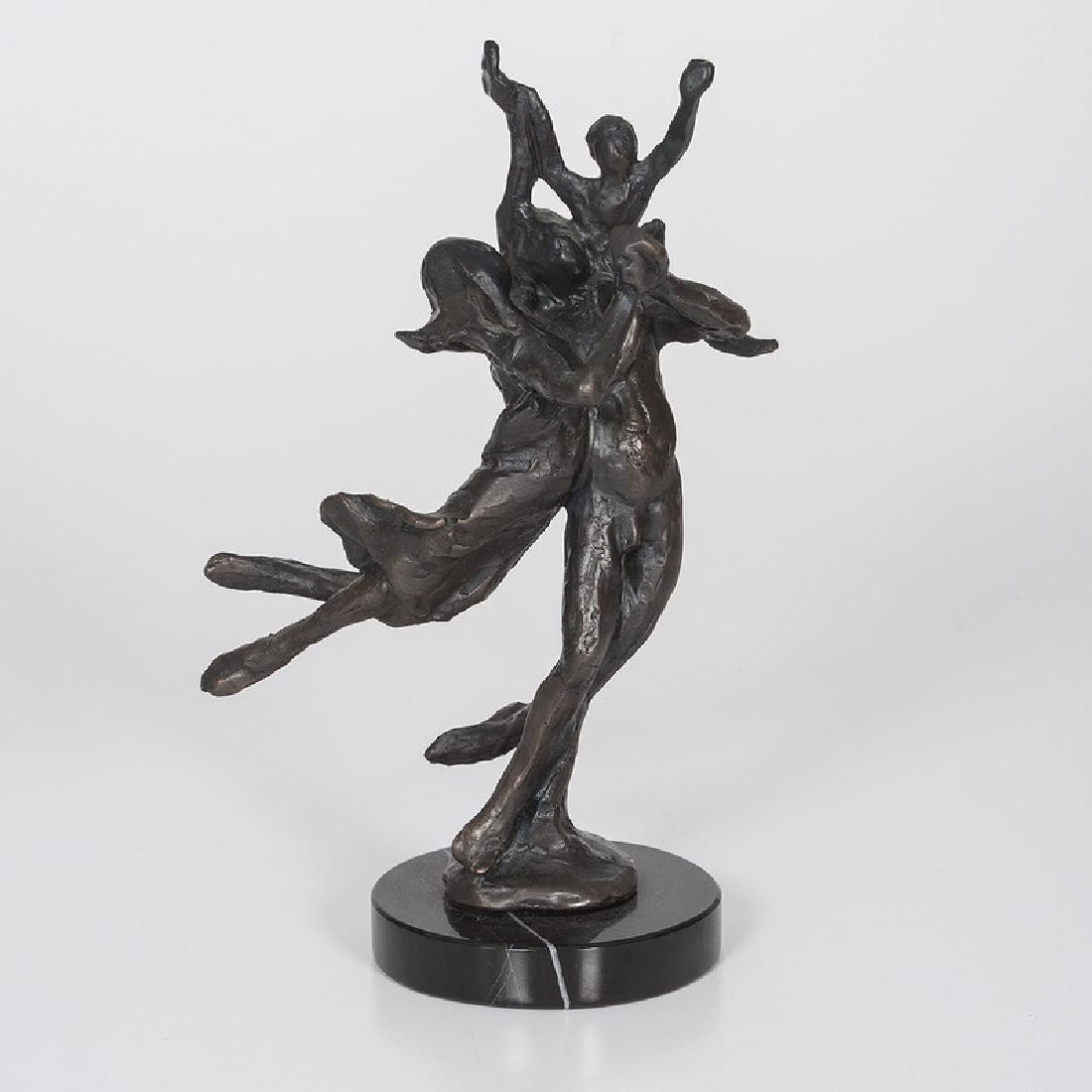 Bronze Modern Sculpture, The Family, Dancing, French German Artist Gerard Koch