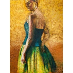 Large Scale Oil Painting Elegant Woman Portrait Philadelphia Modernist Feminist