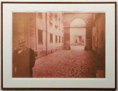 Large Vintage Photograph Polaroid Transfer Photo Print Policeman Smoking, Paris