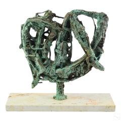 Argentine Modernist Brutalist Abstract Bronze Sculpture Jewish Latin American