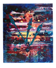 Large Abstract Expressionist Painting Richard Heinsohn from Allan Stone Gallery