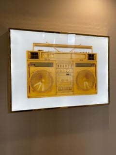 Gold Boombox Lightbox