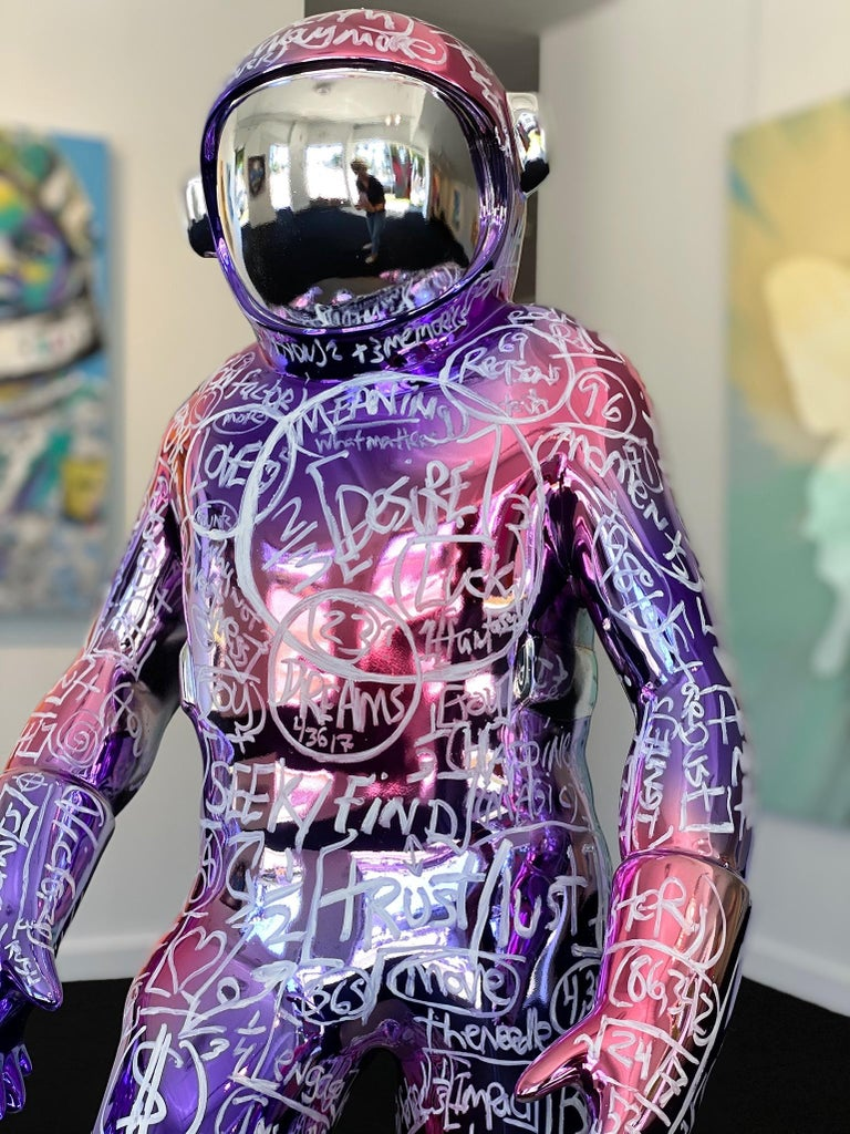Boonji Spaceman - Contemporary Mixed Media Art by Brendan Murphy