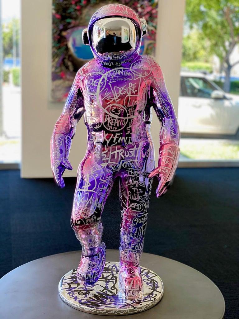 Boonji Spaceman - Mixed Media Art by Brendan Murphy