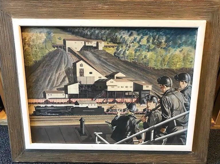 The Lumber Mill 1943 - Art by Geoffrey Biggs