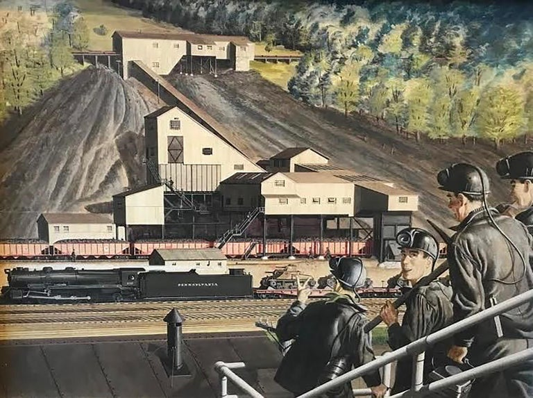 Geoffrey Biggs Landscape Art - The Lumber Mill 1943