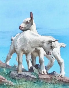 Two Kid Goats, Saturday Evening Post Cover