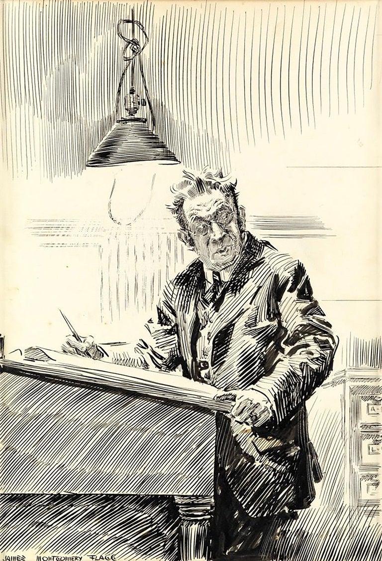 James Montgomery Flagg Figurative Art - Mr. Bingle