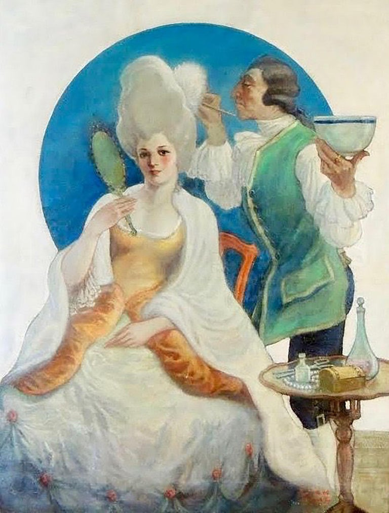 Jack Hoag Figurative Painting - Fashionable Woman
