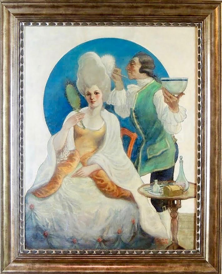 Fashionable Woman - Painting by Jack Hoag