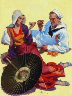 Shore Leave, Saturday Evening Post Cover, August 1931